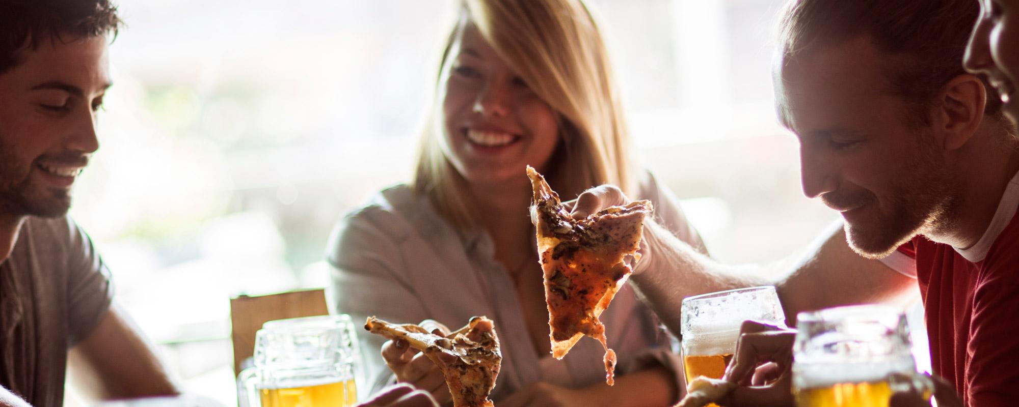 pizza bier essen